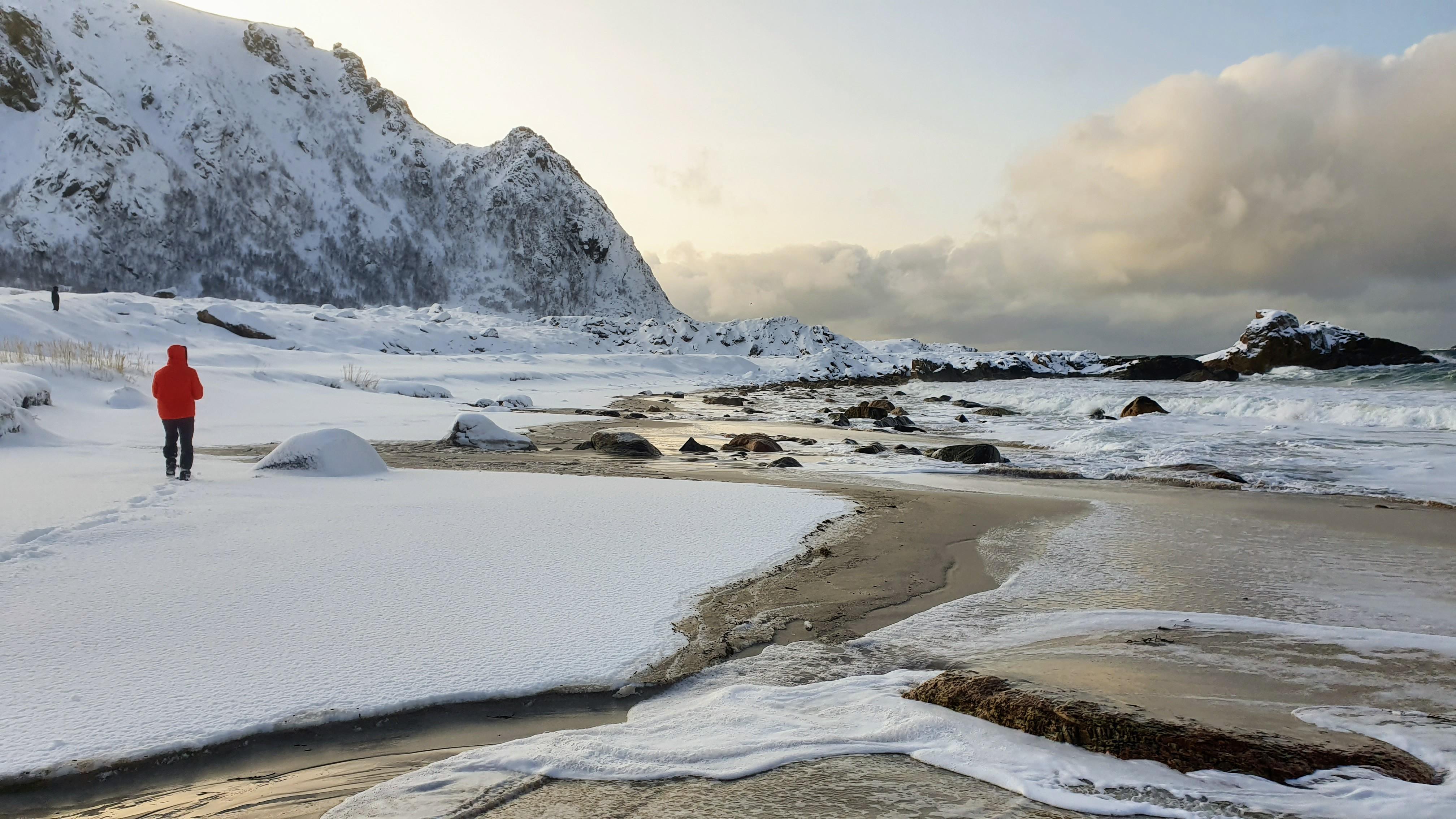 Lofoty, prílet za polárny kruh